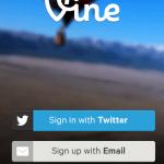 The Vine App main screen.